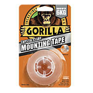Gorilla Clear Mounting Tape (L)1.5m (W)25.4mm