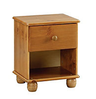 Felix Antique effect 3 over 4 Bedside chest (H)437mm (W)369mm (D)308mm