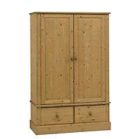 Compton Pine 2 Drawer Double Wardrobe (H)1850mm (W)1195mm (D)550mm