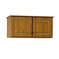 Malmo Scandinavian Stained Pine 2 Door Top box (H)416mm (W)883mm (D)570mm
