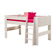 Form Wizard White wash Bed frame (H)1131mm (W)2060mm (L)1140mm
