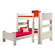 Form Wizard White wash Single Bed frame (H)62.5cm (W)206cm