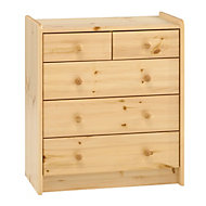 Form Wizard Natural 5 Drawer Chest (H)720mm (W)640mm (D)380mm