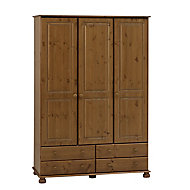 Malmo Stained 3 door 4 drawer Wardrobe (H)1853mm (W)1296mm