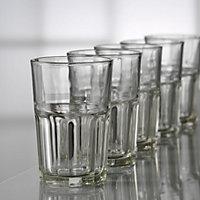 Aida Granite Clear Glass Glasses, Set of 6