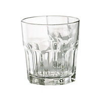 Aida Granite Clear Glass Glasses, Set of 6