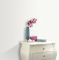 Rasch Evie White Floral Wallpaper