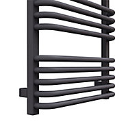 Terma Alex 591W Electric Modern grey Towel warmer (H)1140mm (W)500mm