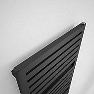 Terma Salisbury 794W Electric Metallic black Towel warmer (H)1635mm (W)540mm