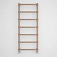 Terma Retro 216W Electric Galvanic old copper Towel warmer (H)1170mm (W)504mm