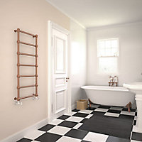 Terma Retro 216W Electric Galvanic old copper Towel warmer (H)1170mm (W)504mm