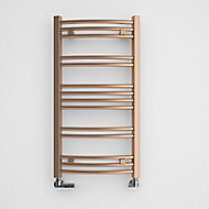 Terma Jade 174W Electric Galvanic old copper Towel warmer (H)753mm (W)400mm