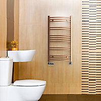 Terma Jade 174W Electric Galvanic old copper Towel warmer (H)753mm (W)400mm