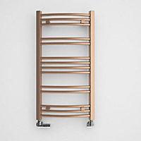 Terma Jade 174W Galvanic old copper Towel warmer (H)753mm (W)400mm