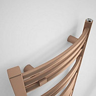 Terma Jade 174W Galvanic old copper Towel warmer (H)753mm (W)400mm