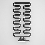 Terma Aire 242W Modern grey Towel warmer (H)621mm (W)300mm