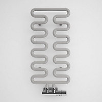 Terma Aire 242W Electric Winter sky Towel warmer (H)621mm (W)300mm