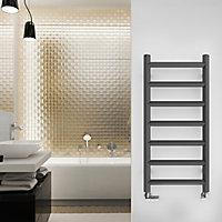 Terma Crystal 247W Electric Modern grey Towel warmer (H)840mm (W)400mm