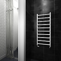 Terma Crystal 411W Electric Soft white Towel warmer (H)1200mm (W)500mm