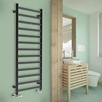 Terma Crystal 534W Electric Modern grey Towel warmer (H)1560mm (W)500mm