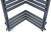 Terma Incorner 808W Electric Modern grey Towel warmer (H)1545mm (W)350mm