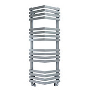 Terma Outcorner 547W Electric Chrome effect Towel warmer (H)1005mm (W)300mm