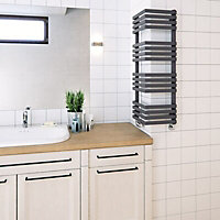 Terma Outcorner 547W Electric Modern grey Towel warmer (H)1005mm (W)300mm