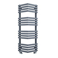 Terma Outcorner 547W Modern grey Towel warmer (H)1005mm (W)300mm