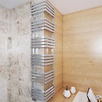 Terma Outcorner 799W Chrome effect Towel warmer (H)1545mm (W)300mm