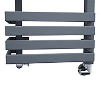 Terma Outcorner 799W Modern grey Towel warmer (H)1545mm (W)300mm