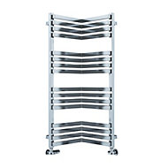 Terma Incorner Chrome effect Towel warmer (H)1005mm (W)350mm
