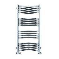 Terma Incorner 546W Chrome effect Towel warmer (H)1005mm (W)350mm