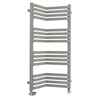 Terma Incorner 546W Modern grey Towel warmer (H)105mm (W)350mm