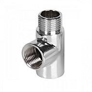 Terma Chrome T Piece 1/2 BSP (H)60mm (W)40mm (D)20mm