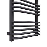 Terma Alex 412W Modern grey Towel warmer (H)760mm (W)500mm