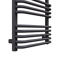 Terma Alex 591W Modern grey Towel warmer (H)1140mm (W)500mm
