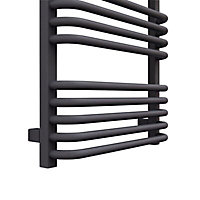 Terma Alex 591W Electric Modern grey Towel warmer (H)1140mm (W)500mm
