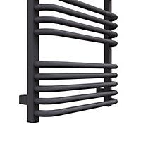 Terma Alex 793W Modern grey Towel warmer (H)1580mm (W)500mm