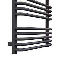 Terma Alex 793W Electric Modern grey Towel warmer (H)1580mm (W)500mm