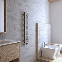 Terma Easy 187W Electric Spark gravel Towel warmer (H)960mm (W)200mm