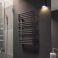 Terma Alex ONE 400W Modern grey Towel warmer (H)760mm (W)500mm