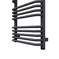 Terma Alex ONE 600W Electric Modern grey Towel warmer (H)1140mm (W)500mm