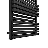Terma Quadrus 708W Electric Metallic black Towel warmer (H)870mm (W)600mm