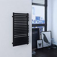 Terma Quadrus 600W Electric Metallic black Towel warmer (H)870mm (W)450mm