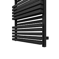Terma Quadrus 800W Electric Metallic black Towel warmer (H)870mm (W)600mm