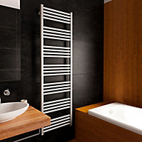 Terma Fiona 600W Spark gravel Towel warmer (H)1620mm (W)480mm