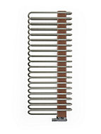 Terma Michelle 722W Electric Nickel gloss & copper Towel warmer (H)1200mm (W)500mm