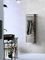 Terma Michelle 722W Nickel gloss & copper Towel warmer (H)1200mm (W)500mm