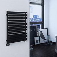 Terma Quadrus 708W Metallic black Towel warmer (H)870mm (W)600mm