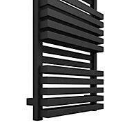 Terma Quadrus 531W Electric Metallic black Towel warmer (H)870mm (W)450mm